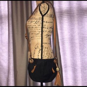 Vince Camuto Nylon & Leather Shoulder Bag